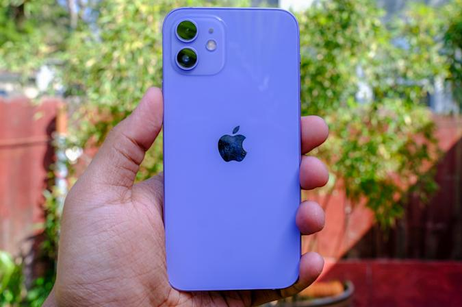 iPhone 12 in purple