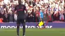 Controversy erupts after linesman 'celebrates' dodgy goal