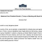 "The CIA says the Saudi crown prince ordered Khashoggi's murder. Trump says, ""Maybe he didn't!"""