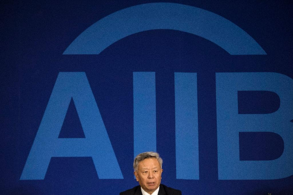 Jin Liqun, president of the Asian Infrastructure Investment Bank (AIIB), speaks to journalists during a press conference in Beijing on January 17, 2016 (AFP Photo/Fred Dufour)