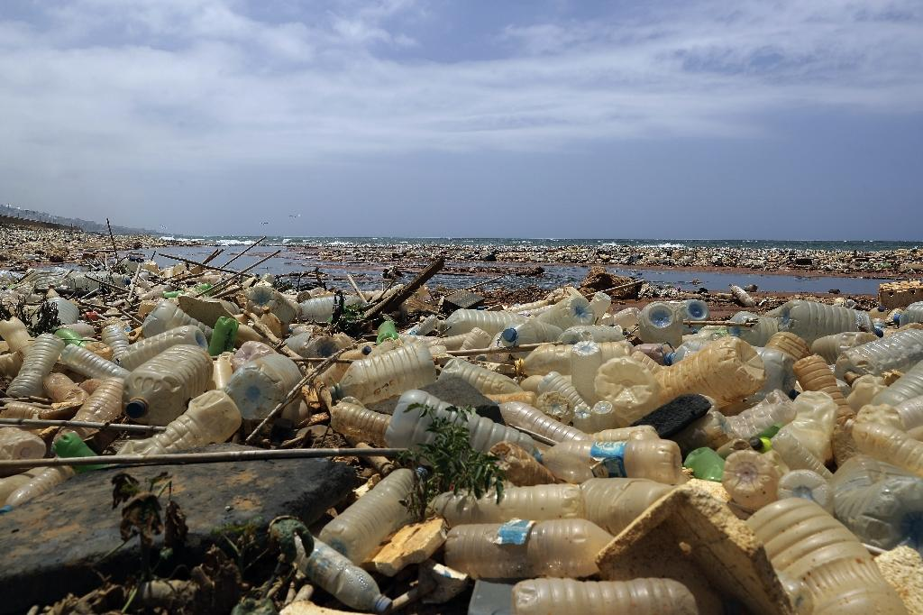Campaigners say the only long-term solution to the plastic waste crisis is for companies to make less and consumers to use less (AFP Photo/JOSEPH EID)