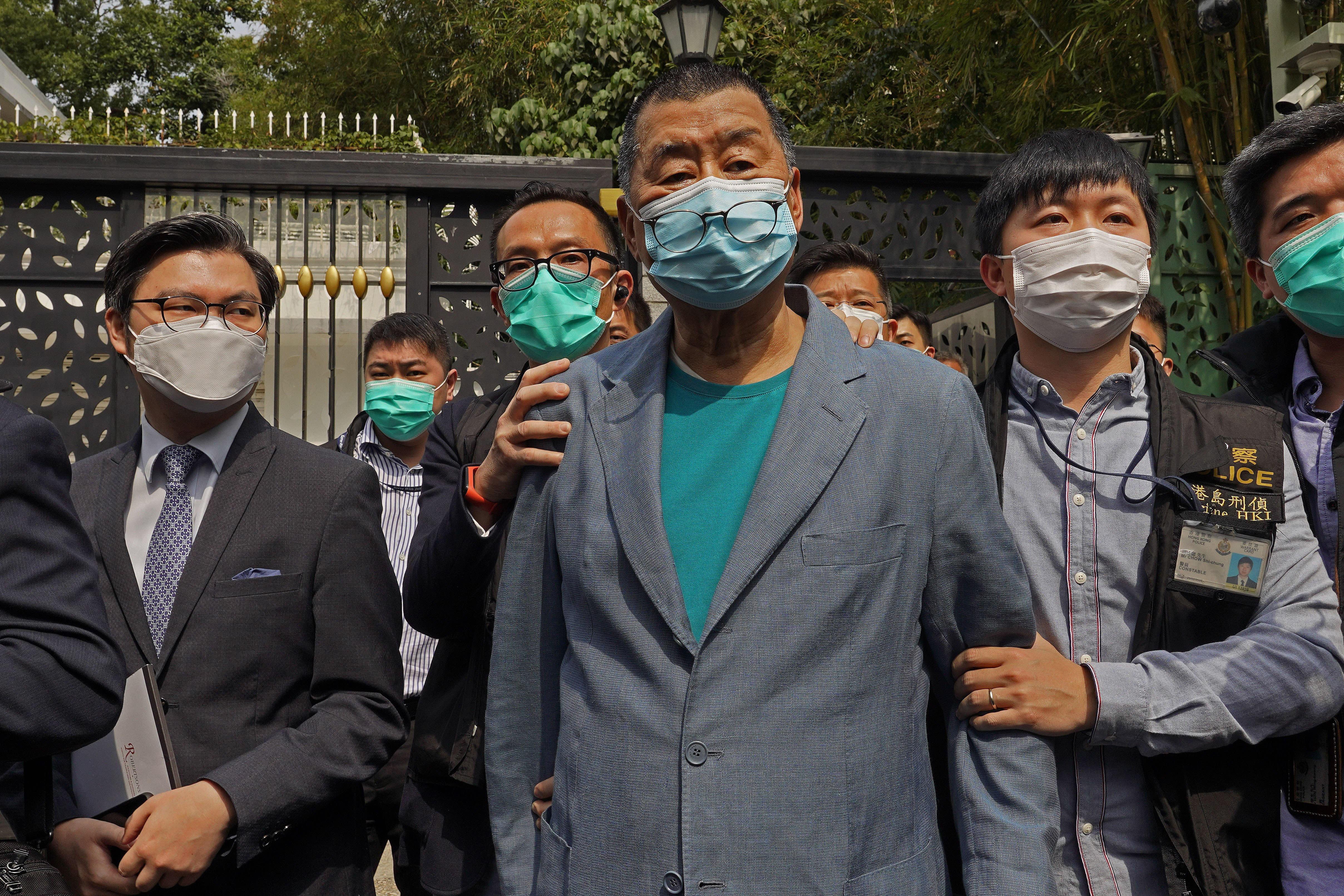 U.S., U.K. condemn Hong Kong arrests of democracy advocates