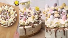 This seven ingredient Mini Egg Cheesecake is YUM