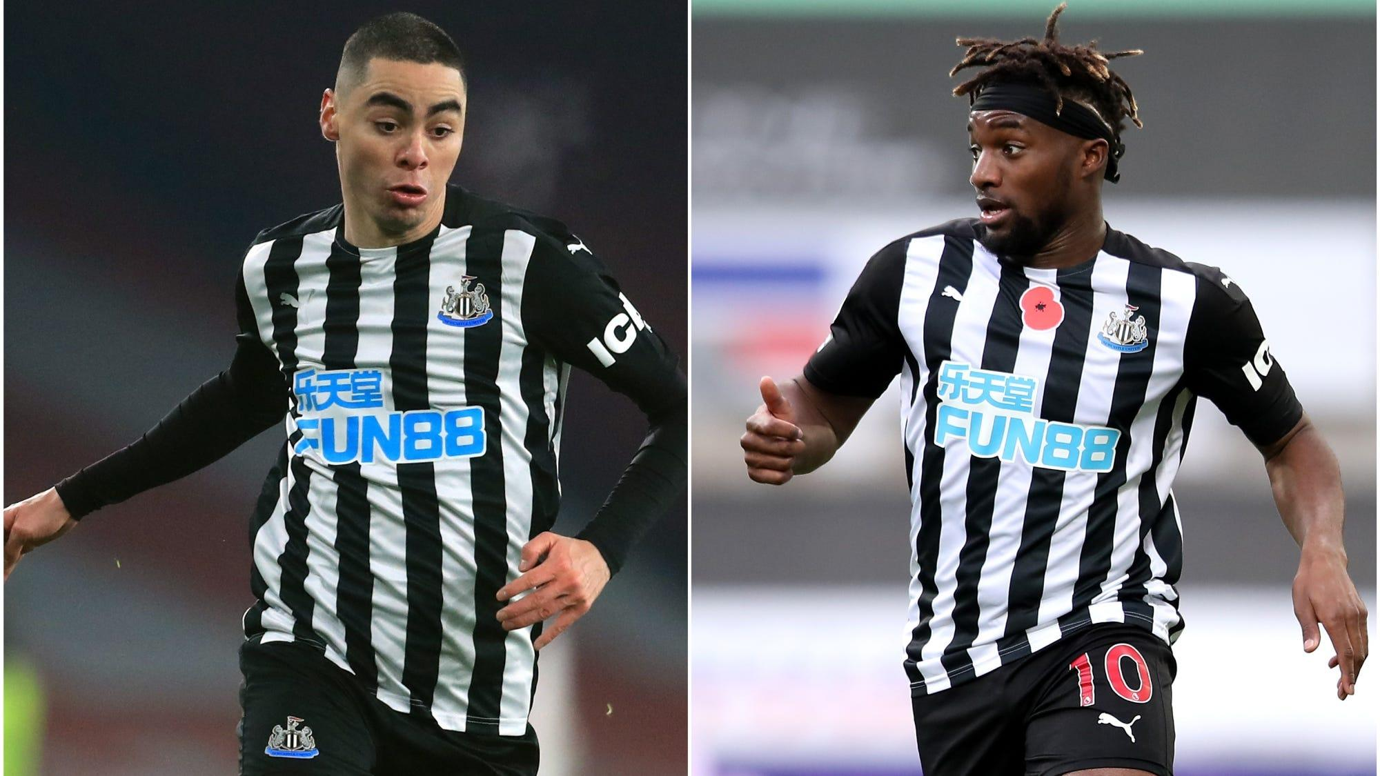Newcastle duo Miguel Almiron and Allan Saint-Maximin ruled out until April