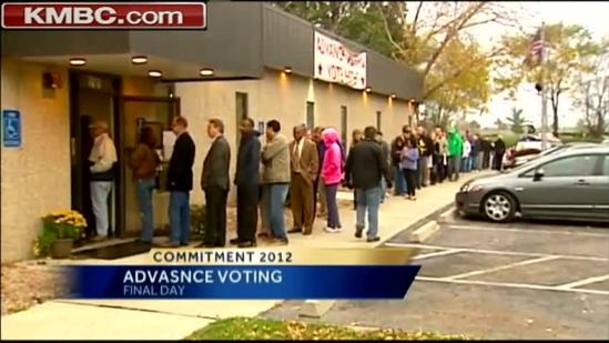 Final day of advance voting in JOCO draws long lines