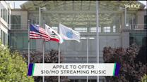 Apple to offer $10/mo streaming music service