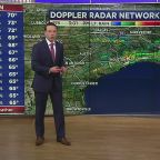 Strong storms departing, rain chance continues