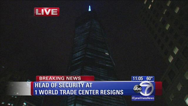 Head of security at 1 World Trade Center resigns