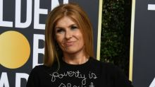 Connie Britton: Actress defends 'Poverty is sexist' sweater worn to Golden Globes