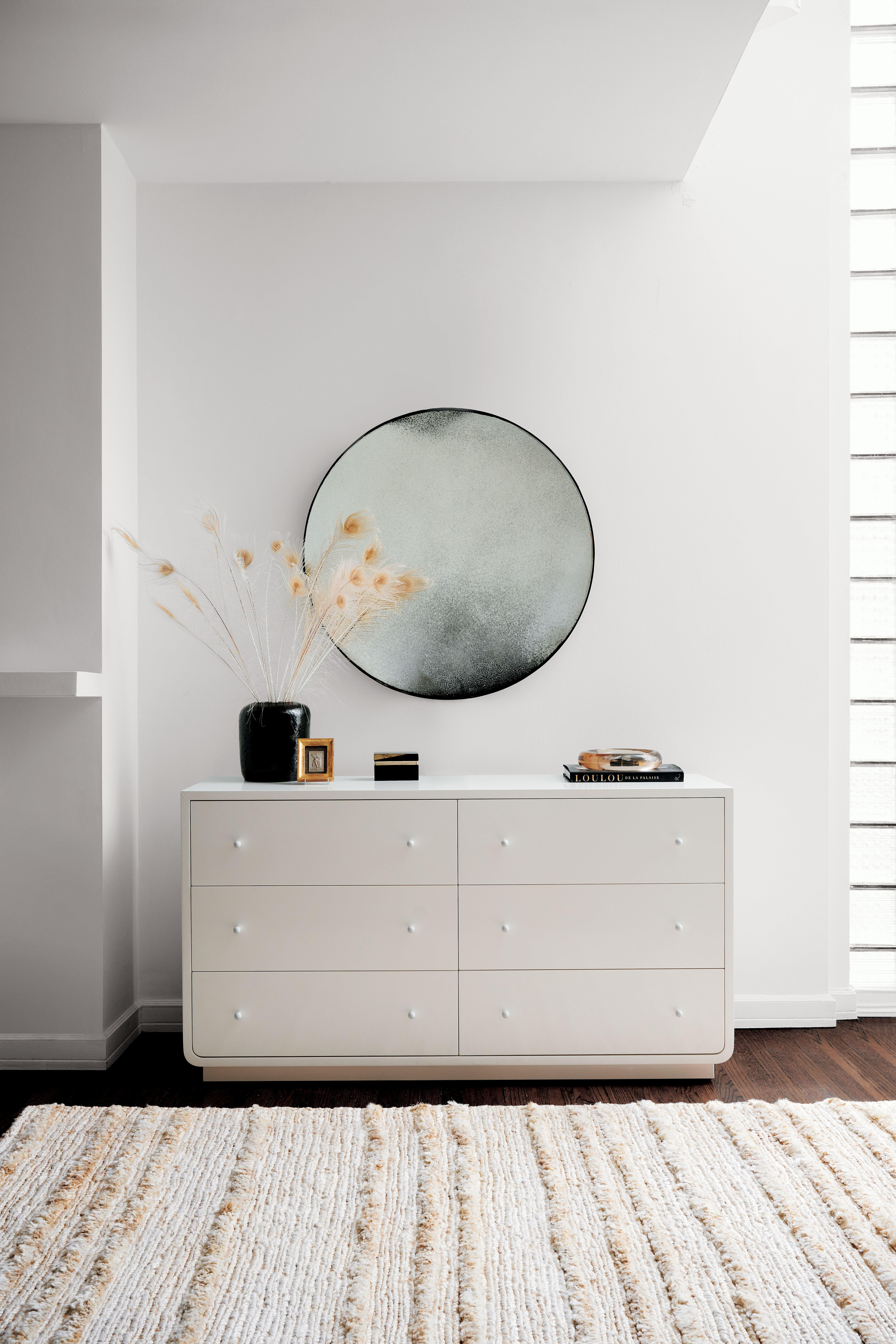 """The lacquered pieces feel decidedly modern in sophisticated shapes. $1499, CB2. <a href=""""https://www.cb2.com/bowed-white-lacquered-low-dresser/s628853"""" rel=""""nofollow noopener"""" target=""""_blank"""" data-ylk=""""slk:Get it now!"""" class=""""link rapid-noclick-resp"""">Get it now!</a>"""