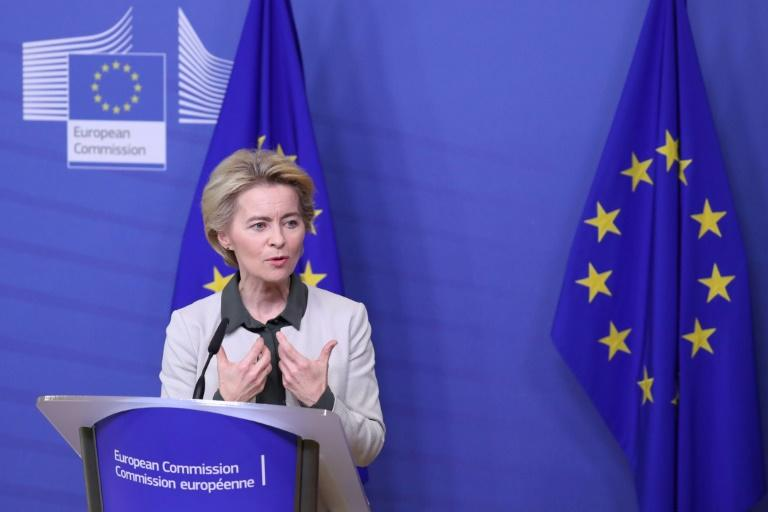 "European Commission president Ursula von der Leyen said the 'Green New Deal' to fight climate change was ""Europe's man on the moon moment"""