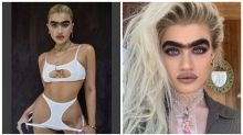 'Monobrow model' turns head with bizarre lingerie combo
