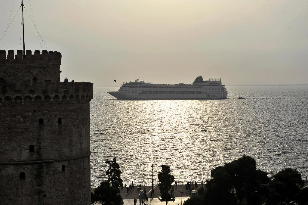 In an article for a Greek newspaper, Putin says Russia is interested in tenders involving Greek rail assets and the port of Thessaloniki (pictured) (AFP Photo/Sakis Mitrolidis)