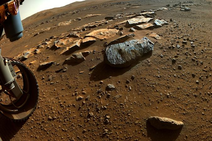 Rock samples Montagnac and Montenier from NASA's Mars Perseverance rover