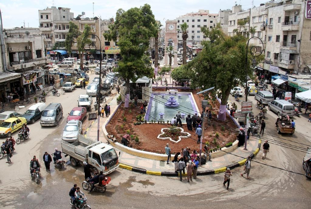 A picture taken in May 2017 shows a general view of a square in the northern Syrian city of Idlib (AFP Photo/Omar haj kadour)