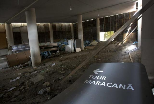 Maracana Stadium, renovated for the 2014 World Cup at a cost of about $500 million, is largely abandoned after the Olympics. (AP)