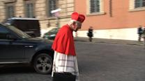Cardinals enter Vatican for historic papal election