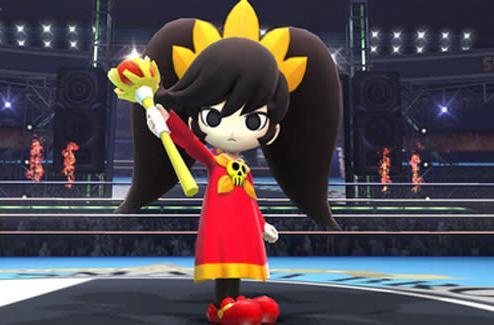 WarioWare's Ashley is an assist trophy in Super Smash Bros.