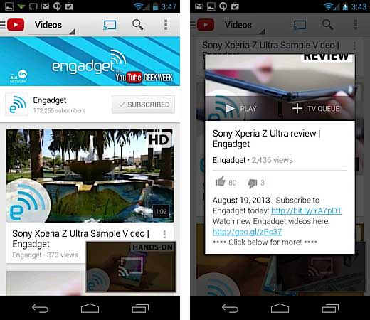 YouTube app for Android gets multitasking, playlist searches and a new UI