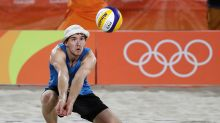 Meet the German beach volleyball player whose hat has a history of its own
