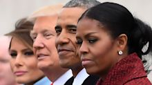 Michelle Obama's side-eye during Donald Trump inauguration becomes hilarious Twitter meme