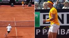 Nadal schools young star with epic running winner