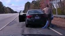'Crazy Incident' Sees Traffic Stop Suspect Wrestle With Officer Before Driving Off