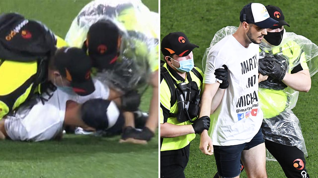 'Spoiling the outcome': AFL grand final disrupted by 'moron' fans