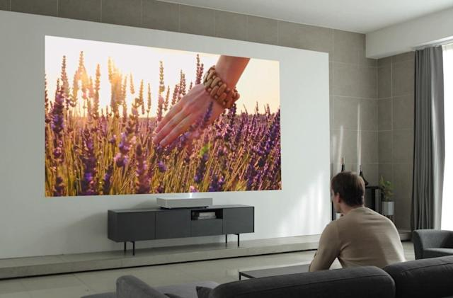 LG's CineBeam short-throw 4K projector is now available