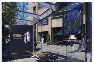 Solo's bus stop ad enables life-size chatting with strangers