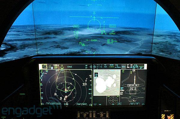 Lockheed Martin F-35 Lightning II stealth fighter cockpit demonstrator hands-on (video)