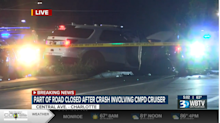 Two officers badly injured in crash with wrong-way driver on Central Avenue, CMPD says