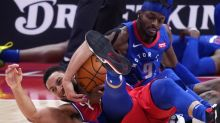 Embiid hits late free throws, 76ers beat Pistons 114-110