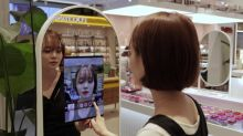 An 'augmented reality' mirror for makeup shopping