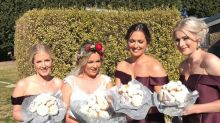 Bride's doughnut bouquets are a wedding treat we could really go for
