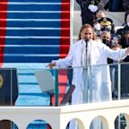 Jennifer Lopez performs at 59th inauguration