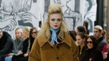 Elle Fanning Opens Miu Miu's​ '80s-Inspired Fall 2018 Show