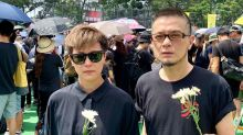 Anthony Wong Yiu Ming joins protest on 57th birthday