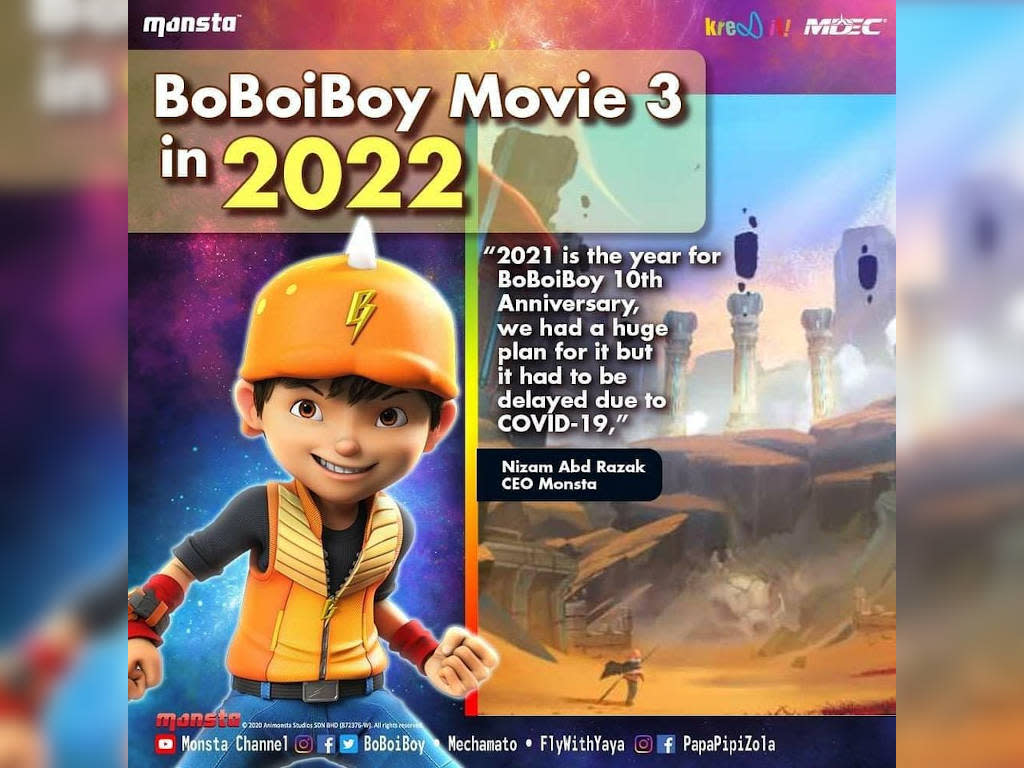Boboiboy Movie 3 Set To Be Released In 2022