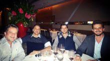 Marcos Harter janta com vilão do 'BBB 5', Dr. Gê