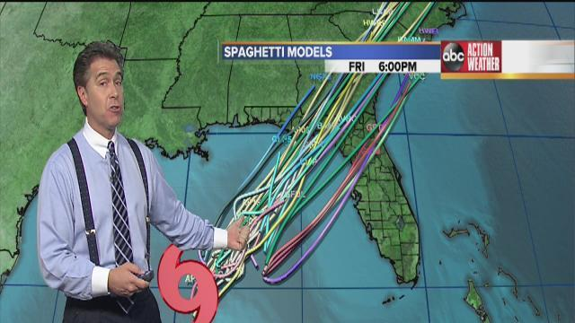 Low pressure in Gulf becomes Tropical Storm Andrea