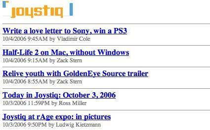 Joystiq: now entirely legible on your mobile device