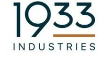 1933 Industries Reports First Quarter Financial Results for Fiscal Year 2020