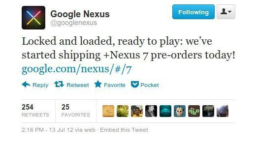 Google starts shipping Nexus 7 pre-orders, writes a rhyme to celebrate