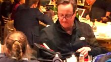 Life after Brexit: Former PM David Cameron spotted on childcare duty in St Pancras cafe