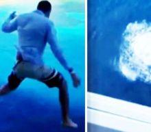 Man makes terrifying jump from 11th story cruise ship balcony