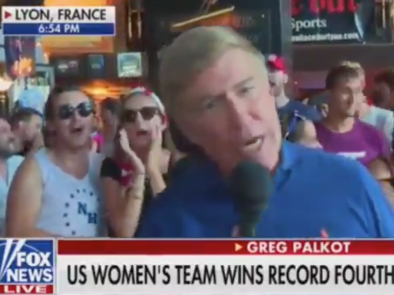 "Image result for Right After U.S. Wins Women's World Cup, Protesters Chant ""F Trump"" On Fox News Broadcast"