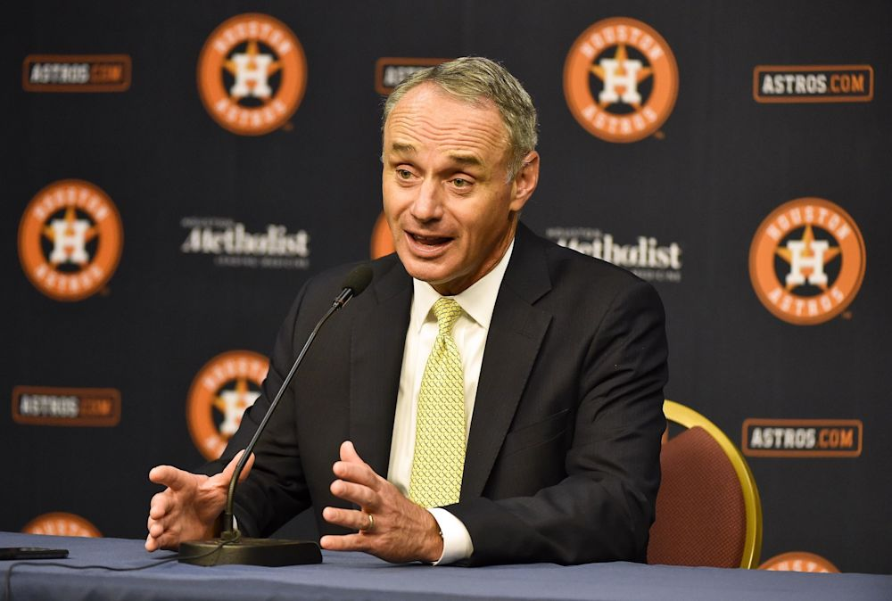 Rob Manfred speaking in Houston this week, said he'd like MLB to play more in Mexico. (AP)