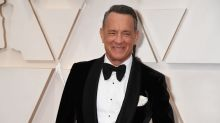 Tom Hanks shows off 'horrible haircut' as he goes bald for new role