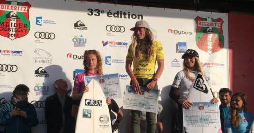 Surf - Maïder Arostéguy - Maïder Arostéguy : Vincent Duvignac et Justine Dupont s'imposent